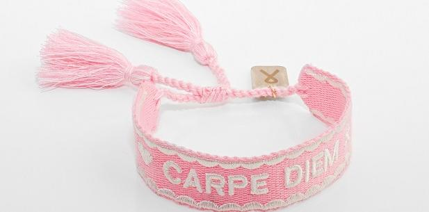 Pink ribbon armband 2021
