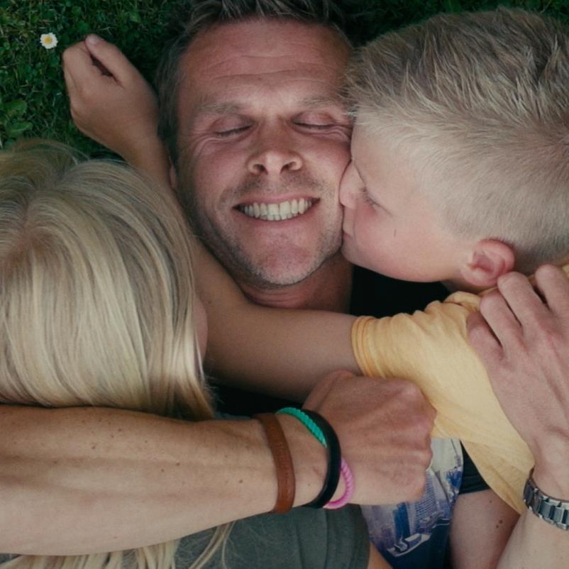 Mathieu met kinderen