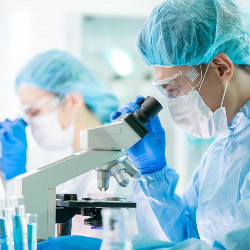 Onderzoekers in laboratorium