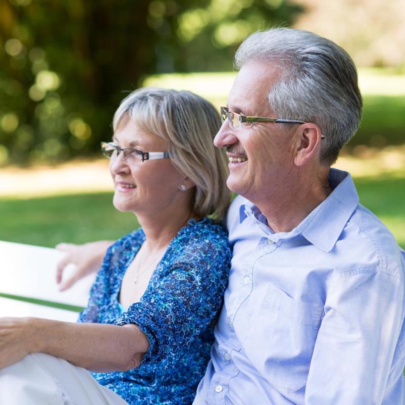 Lachend echtpaar