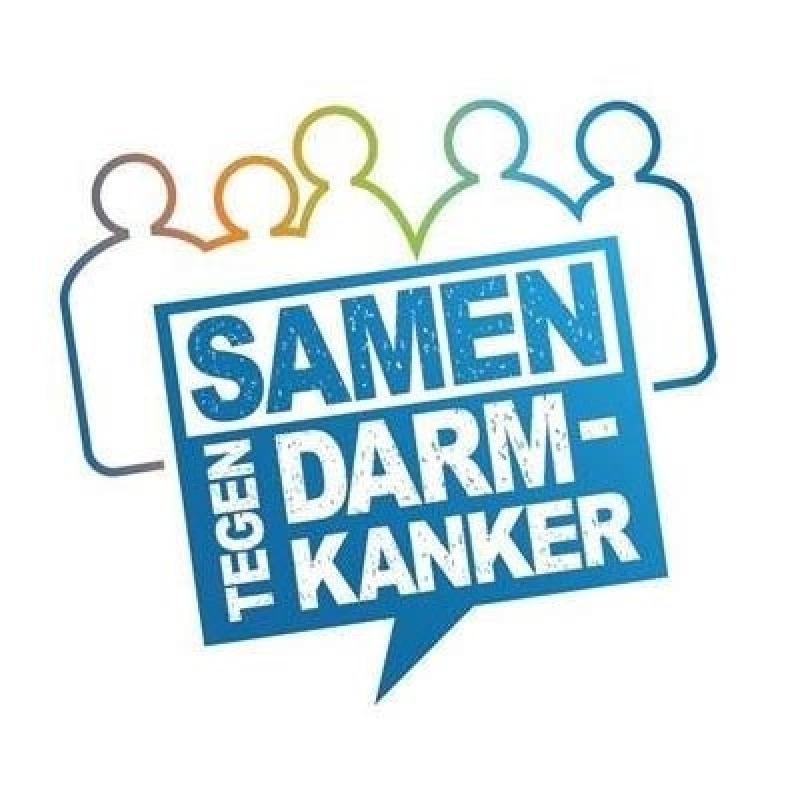 Logo samen tegen darmkanker