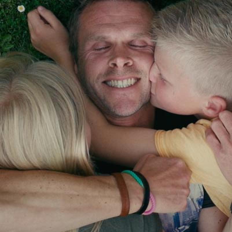 Mathieu met zijn kinderen