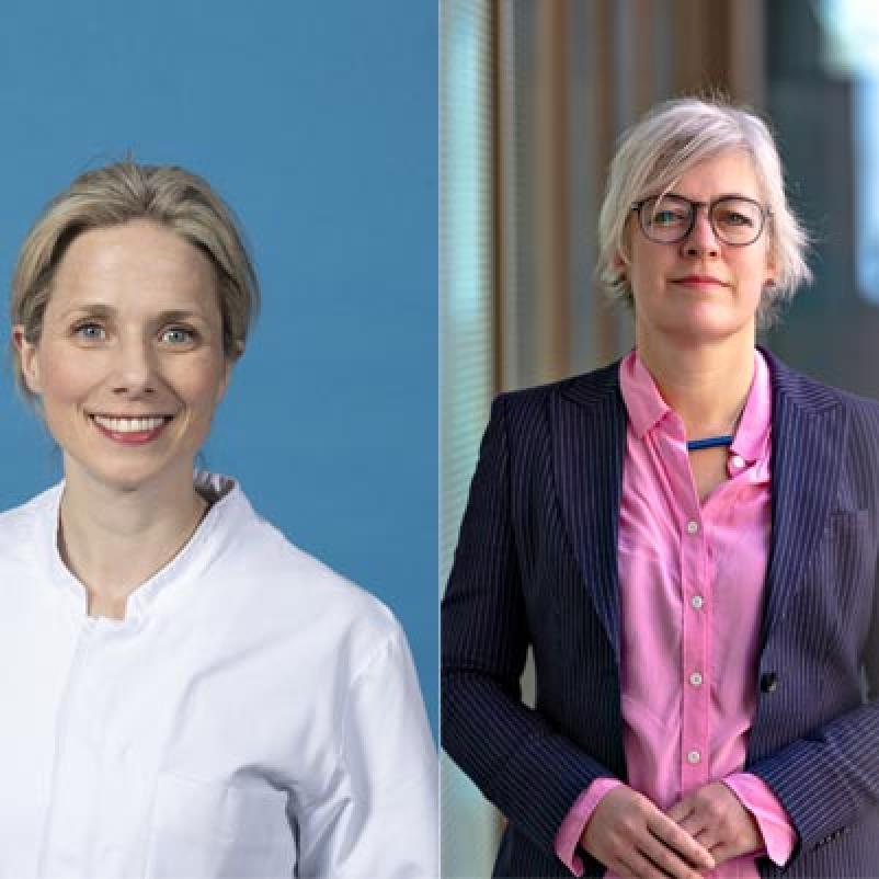 Onderzoekers Astrid van der Veldt en Annemarie Dingemans
