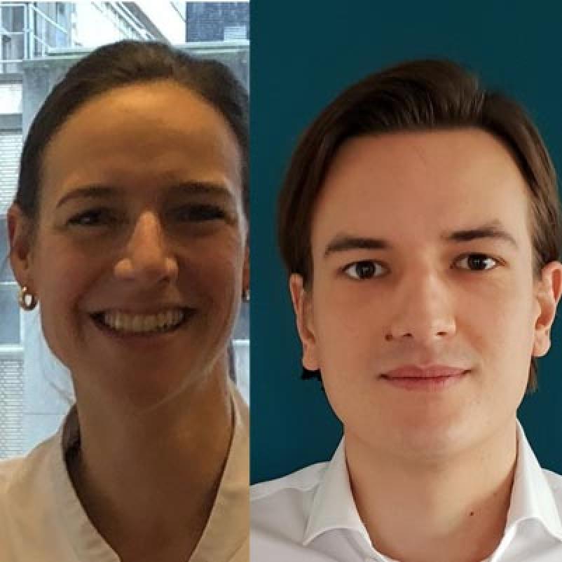 Onderzoekers Eva Madsen en Job van Kooten