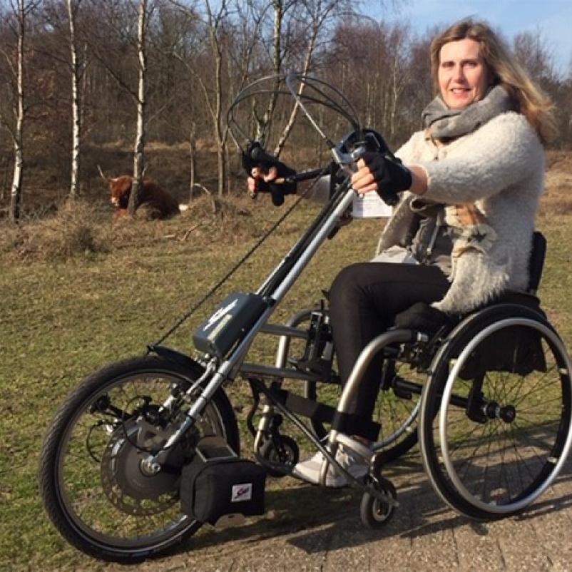 Ilse op haar fiets