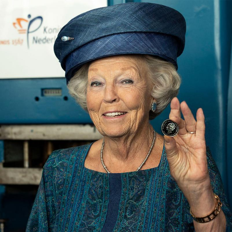 Prinses Beatrix en de KWF-munt