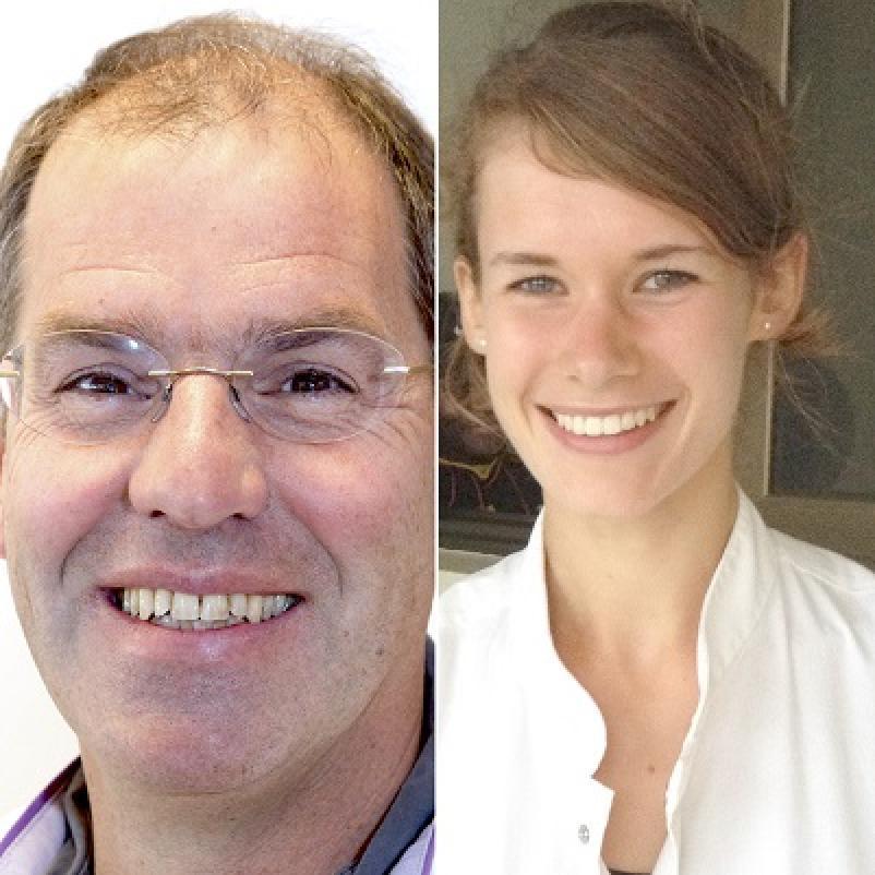 Onderzoekers Gerrit Slooter en Gwen Thomas