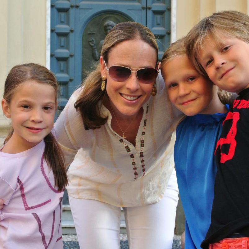 Vrouw met haar kinderen
