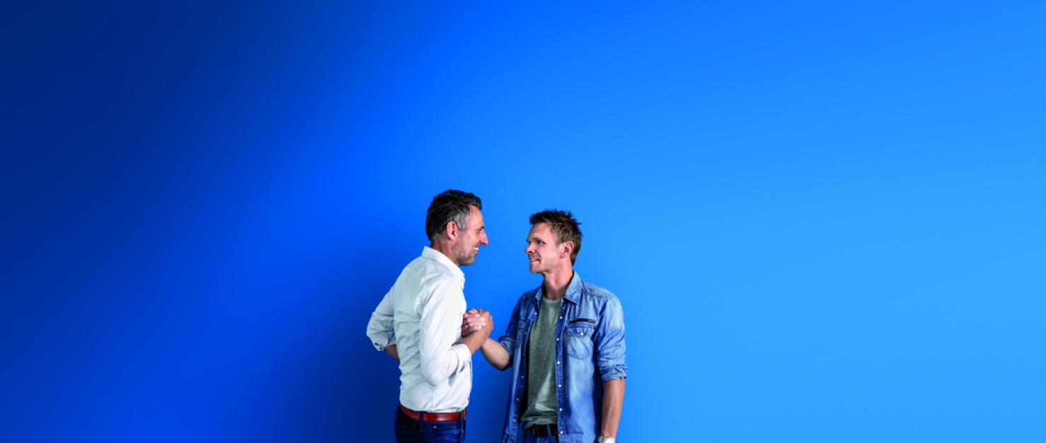 Mathieu en Patrick