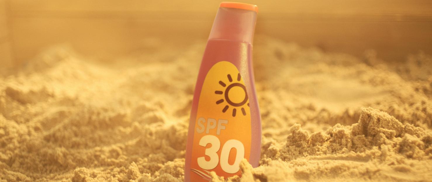 fles zonnebrandcreme
