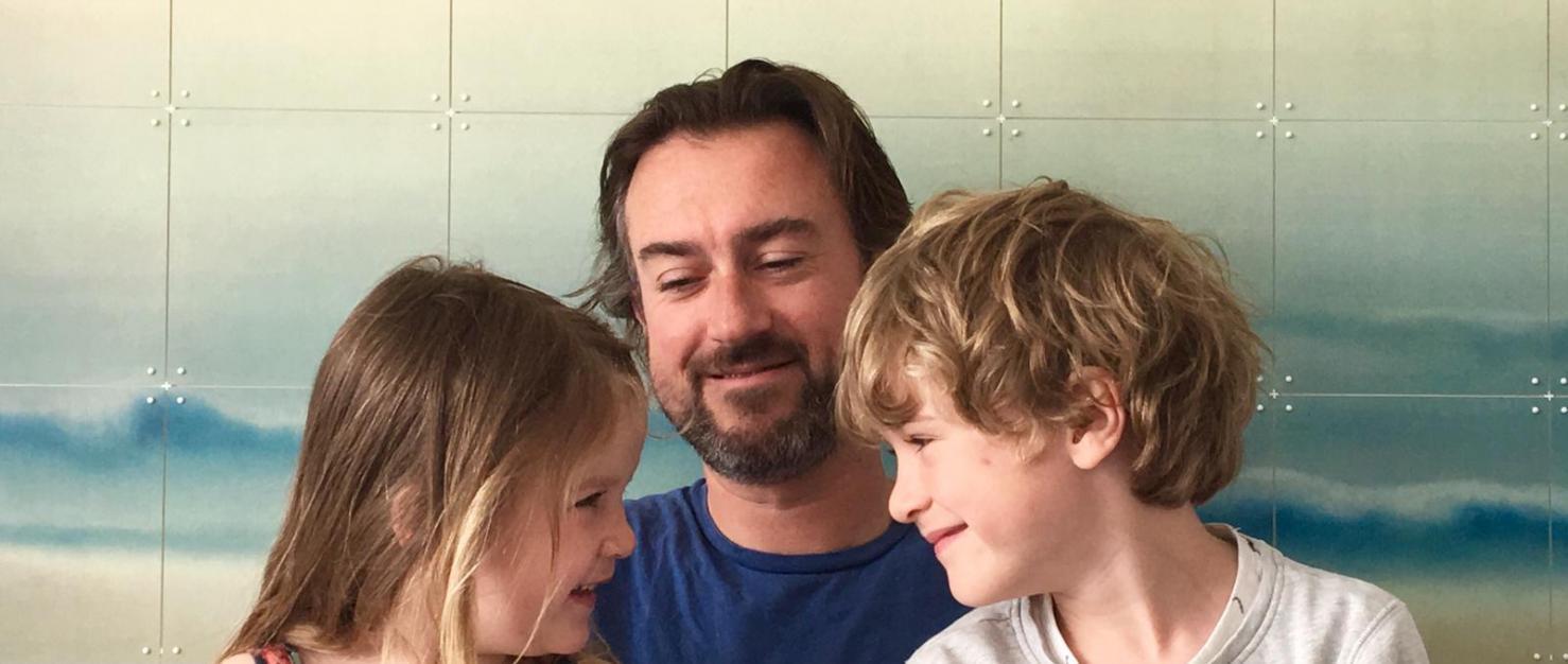 Baris met zijn kinderen