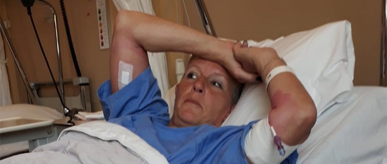 Renate in het ziekenhuis