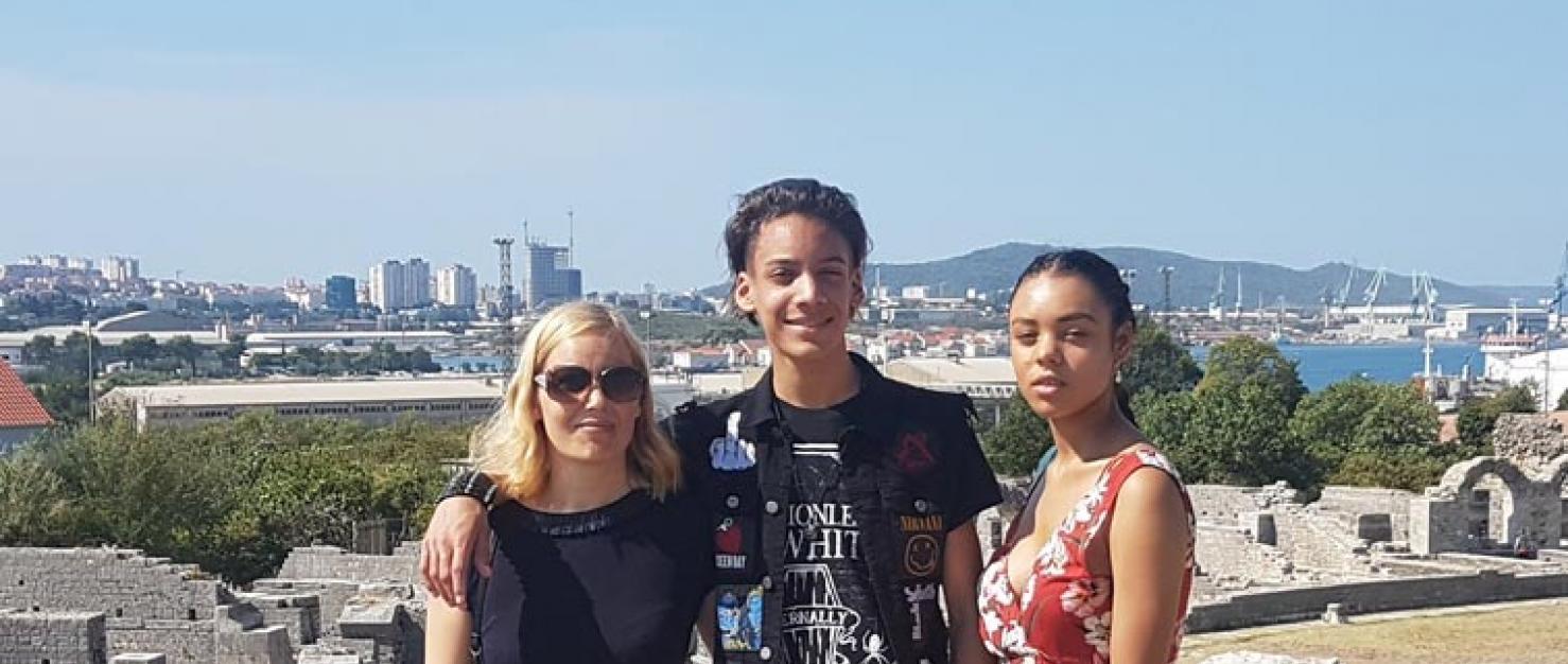 Kim en haar kinderen